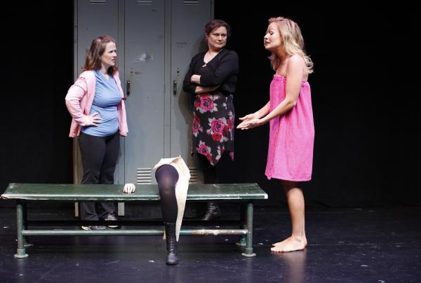 Mary Theresa Archbold (left), Anita Hollander and Tiffan Borelli star in Bekah Brunstetter's <em>Gorgeous</em>, part of Theater Breaking Through Barriers' initial Some of Our Parts<em> </em>Festival in 2011. A third round of new short plays runs through June 28 at New York City's Clurman Theatre.