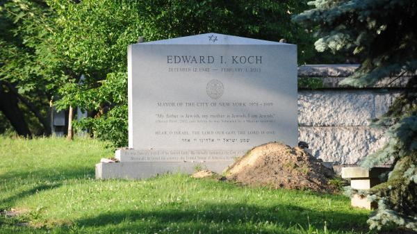 Look closely: Ed Koch's tombstone had the wrong birth date. It's fixed now, but the error had the late New York City mayor born in 1942, rather than 1924.