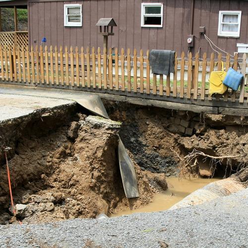 A sinkhole