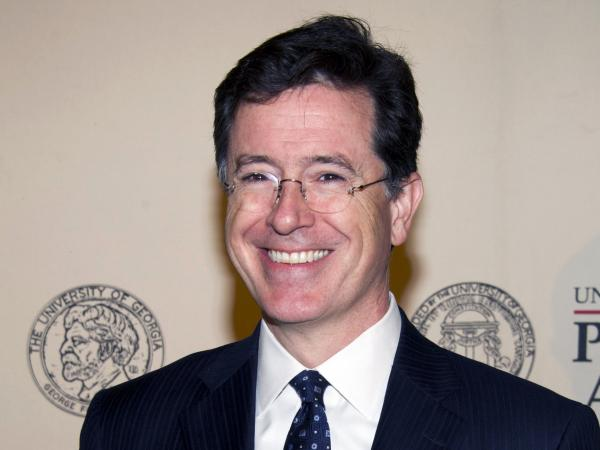 Seen here in May 2012, Stephen Colbert last night gave a tribute to his mom, who passed away recently.