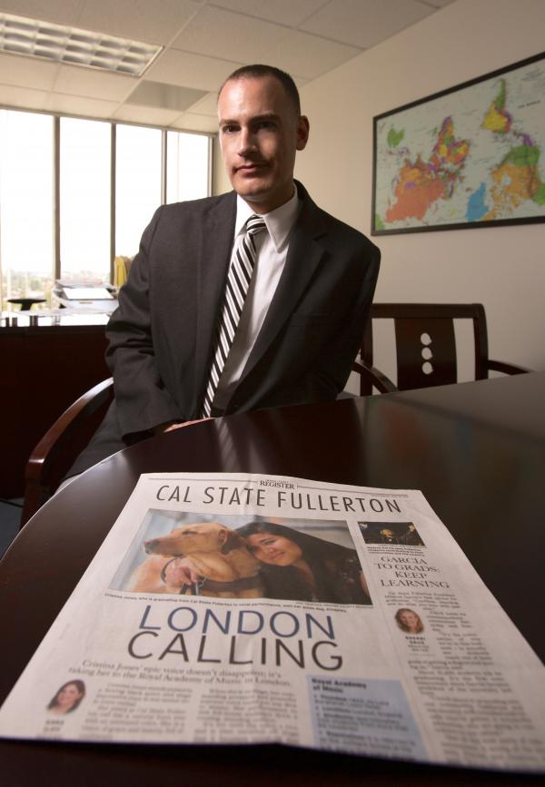 Jeffrey Cook, chief communications officer at Cal State, Fullerton, says <em>The Orange County Register</em>'s proposal to have local universities fund the paper's coverage of them seemed almost too good to be true.