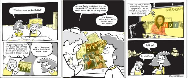 Illustration by author Jarrett Krosoczka, whose graphic novel series <em>Lunch Lady </em>was Backseat Book Club's May 2013 pick.