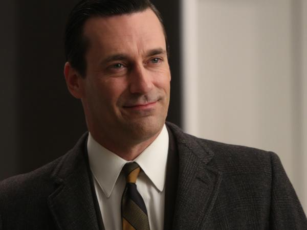 Jon Hamm as Don Draper on <em>Mad Men</em>.