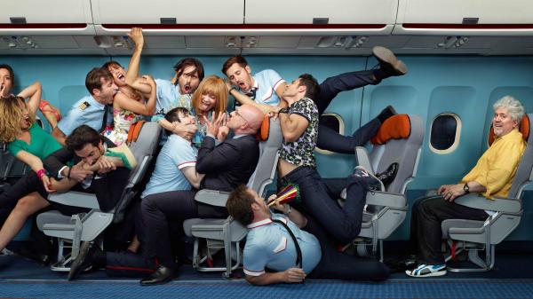 <em>I'm So Excited</em>, a candy-colored comedy from Spanish director Pedro Almodovar (at right), finds an eclectic assortment of highly strung passengers coping with an airborne emergency en route to Mexico City.