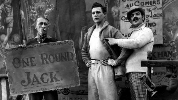 "Carl Brisson stars as sideshow boxer ""One Round Jack"" in Alfred Hitchcock's 1927 film <em>The Ring</em>. That and eight more of the master's early silent features have restored by the British Film Institute."