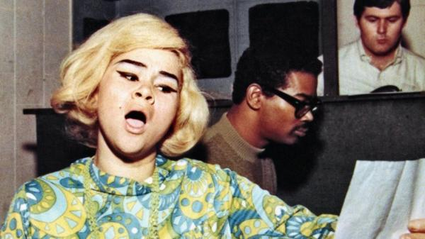 Etta James rehearses a song before recording at Fame Studios circa 1967 in Muscle Shoals, Ala.