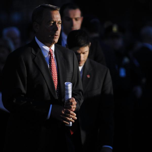 House Speaker John Boehner, R-Ohio, at Tuesday night's lighting of the Capitol Christmas Tree.