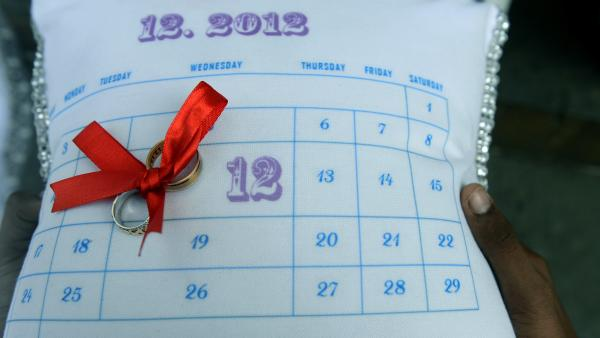 An auspicious date? The rings for a wedding earlier today —  12/12/12 — in Mumbai, India.