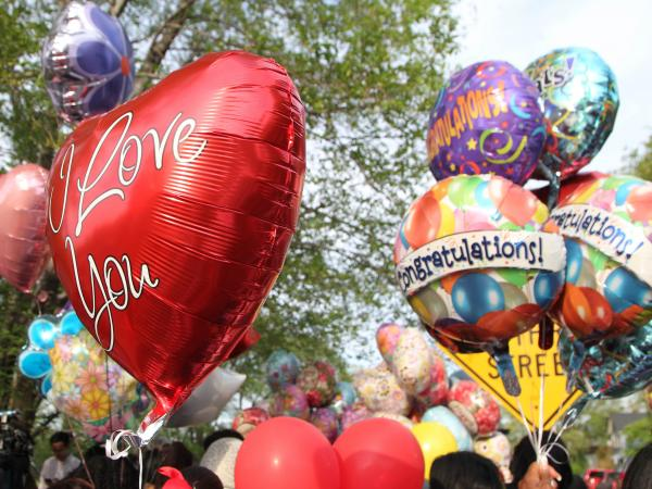 In Cleveland earlier this week, friends and family gathered balloons and other things to have on hand to welcome home kidnapping victim Michelle Knight.