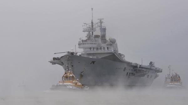 The HMS Ark Royal steams into Portsmouth, England, for the last time on Dec. 3, 2010, in preparation for decommissioning.