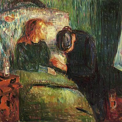 Edvard Munch's <em>The Sick Child</em> depicts the moments before his sister died of tuberculosis in 1896.