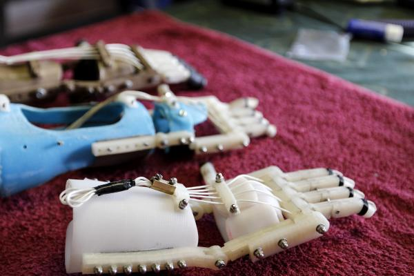 "One version of the Robohand includes 3-D printed parts assembled with metal hardware. New parts can be easily ""printed"" as the child grows."