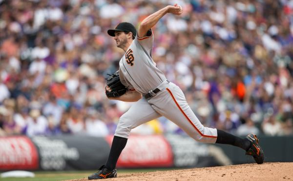 Barry Zito, of the San Francisco Giants, pitches against the Colorado Rockies at Coors Field in Denver, in May.