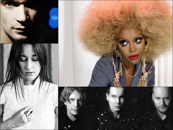 Clockwise from upper left: Jon Hopkins, Ebony Bones, Sigur Ros, Zola Jesus