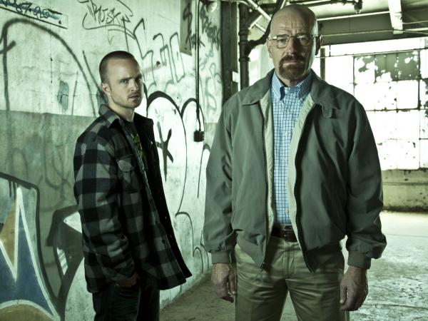 Jesse Pinkman (Aaron Paul) and Walter White (Bryan Cranston) are plenty difficult themselves on AMC's <em>Breaking Bad</em>, one of many cable shows Brett Martin discusses in his book.