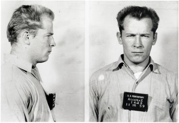 "James ""Whitey"" Bulger's mug shot from Alcatraz, 1959."