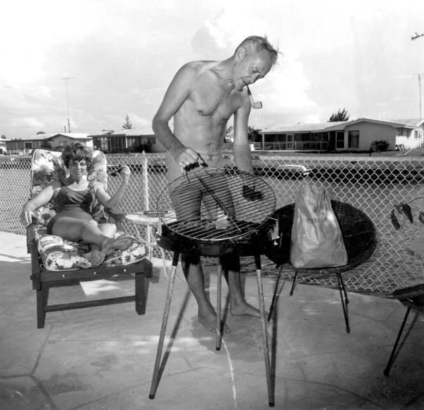 Grilling, Cocoa Beach, Fla., 1970