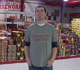 Eli O'Connell, is general manager of Shelton Fireworks in West Harrison, Indiana.