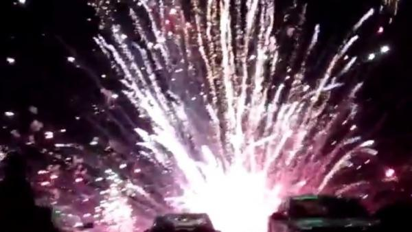 At least 28 people were injured Thursday in Simi Valley, Calif., when many of the fireworks at a July 4th celebration ignited too close to the ground. People there caught the accident and posted videos.
