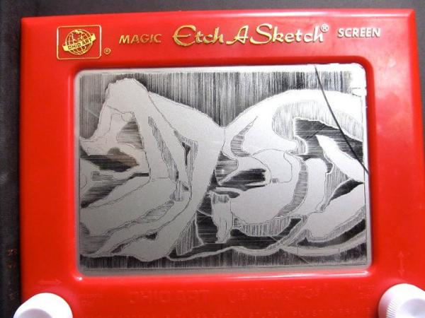 Etch A Sketch art by Andrea Tilden. (Andrea Tilden/Facebook)