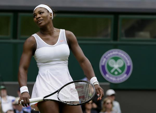 Serena Williams lost in the early rounds of Wimbledon. (AP)