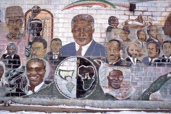 <em>People Of Color, Dedicated To The Brothers And The Sisters From Day One,</em> by Glenn Rock, 1998, W. 100th Street and Halsted, Chicago, 2011