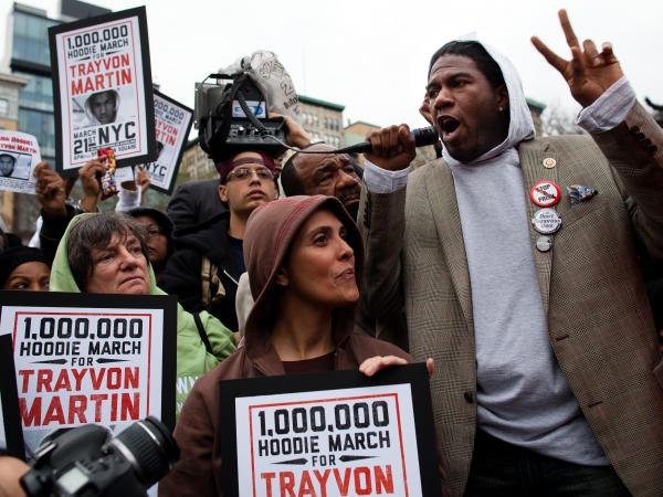 Thousands of people gathered in Manhattan's Union Square in March 2012 to call for an arrest in the shooting death of Trayvon Martin. Similar rallies were held all over the country.
