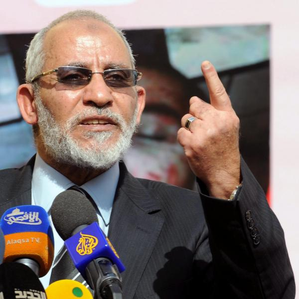 Muslim Brotherhood leader Mohammed Badie in Cairo last December.