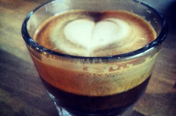A macchiato photo by Jenny Lee Molina on the 3:05 Miami Cafecito Break Facebook page. (Jenny Lee Molina)