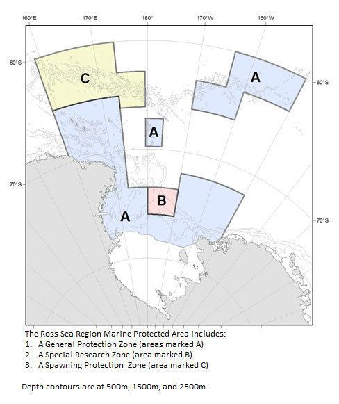 <strong>The New Zealand-United States Proposal.</strong> This plan would establish an 888,000-square-mile marine protected area in Antarctica's Ross Sea.