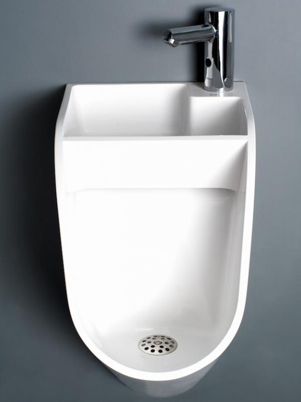 The Latvian sink-urinal sells for about $590.