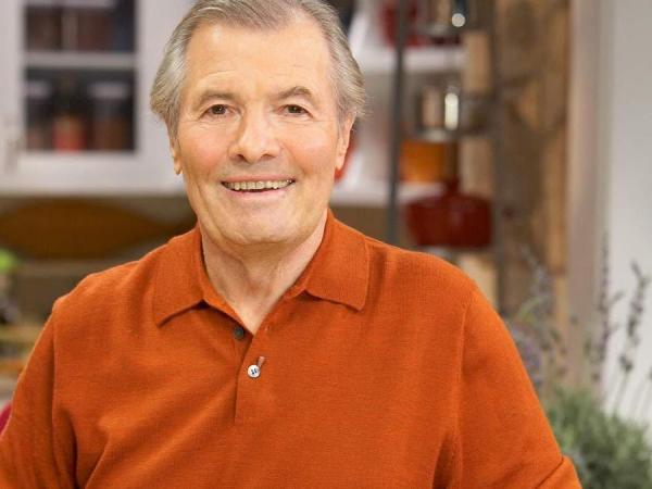 Chef Jacques Pepin on the set of his show <em>More Fast Food My Way.</em>