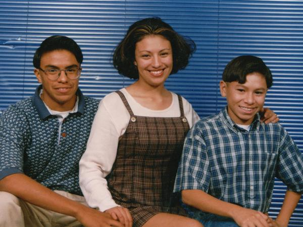 Monica Velez and her two brothers, Freddy (left) and Andrew, in 1996. Freddy died in Iraq in 2004, and Andrew died in Afghanistan in 2006.