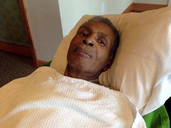 There are no strict schedules at Green House homes, so resident Charles Tyler, 72, is free to stay in his recliner in the living room during mealtimes.