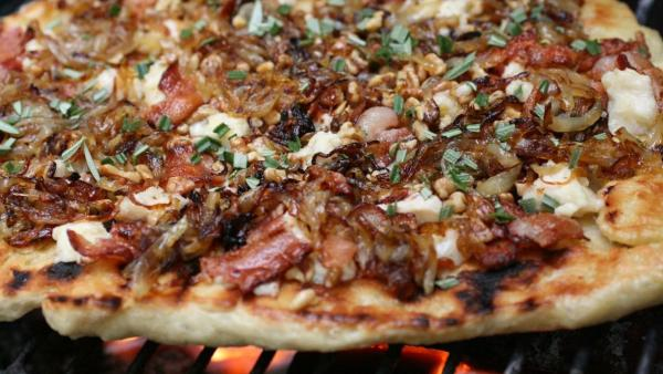 A number of listeners submitted recipes for grilled pizza.