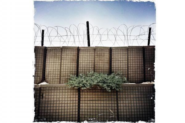 The Hesco barrier is ubiquitous on any base in Afghanistan; it comes in all shapes and sizes. Simply unfold and fill with dirt and rocks and you instantly have a new, almost impenetrable wall.