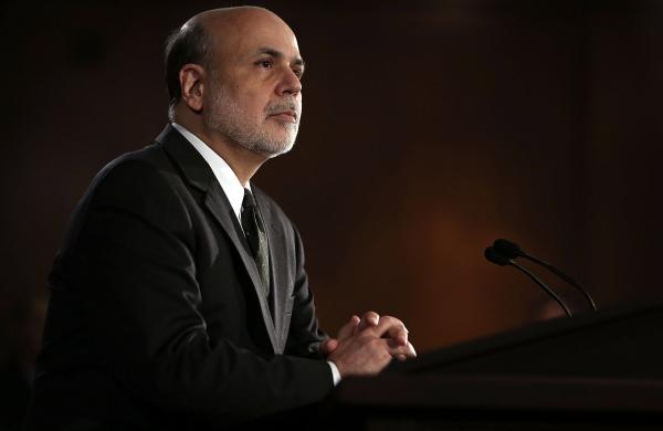 Federal Reserve Board Chairman Ben Bernanke speaks during a news conference at the Federal Reserve in Washington, D.C., last month.