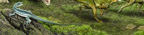 An illustration of the extinct lizard Obamadon.