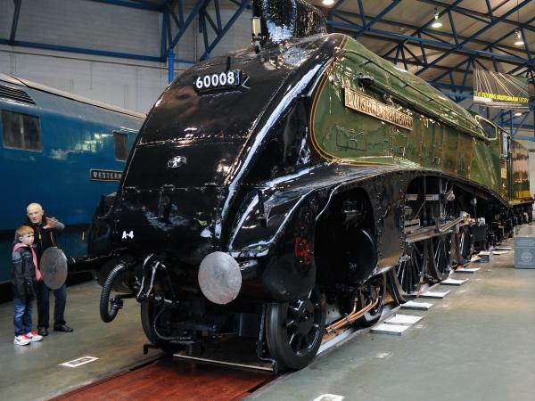 The locomotive Dwight D Eisenhower at the National Railway Museum in York, England.