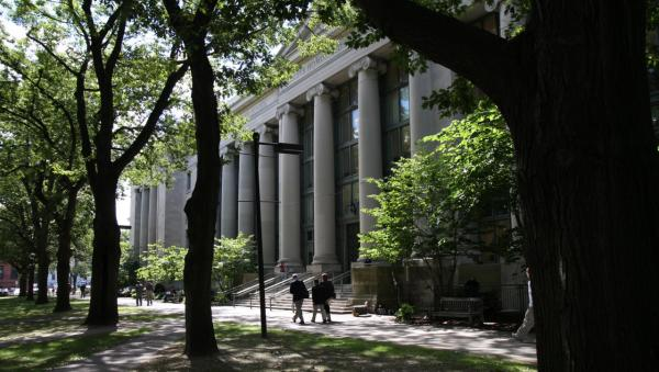 Enrollment is declining at law schools nationwide. At  Harvard (pictured) enrollment is steady, though it's becoming easier to get in. (Harvard)