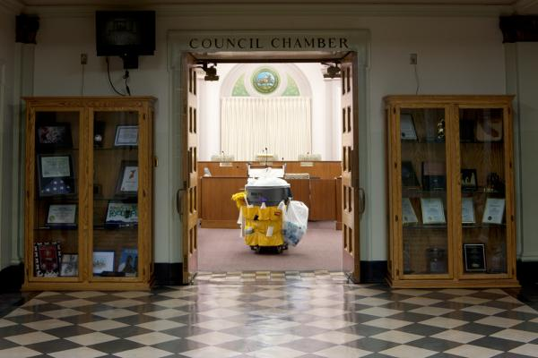 The Stockton City Council chambers on June 27, 2012, the night the council voted to declare bankruptcy.