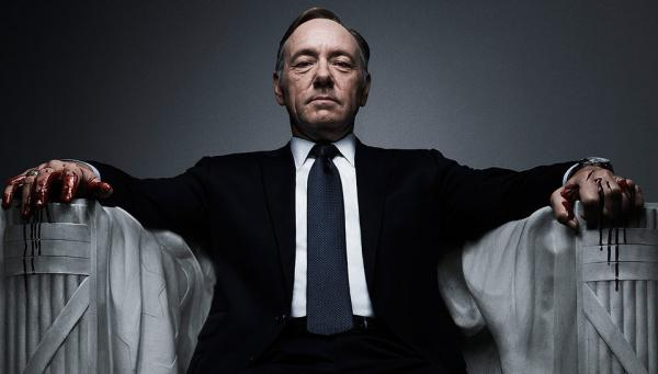"Actor Kevin Spacey is pictured in a promotional image from ""House of Cards."" (Netflix)"