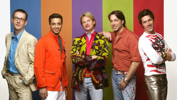 "The cast of ""Queer Eye"": Ted Allen, Jai Rodriguez, Carson Kressley, Thom Filicia, Kyan Douglas. (Bravo)"