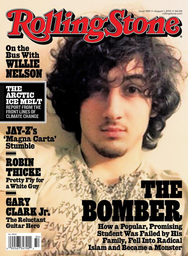 In this magazine cover image released by Wenner Media, Boston Marathon bombing suspect Dzhokhar Tsarnaev appears on the cover of the Aug. 1, 2013, issue of <em>Rolling Stone</em>.