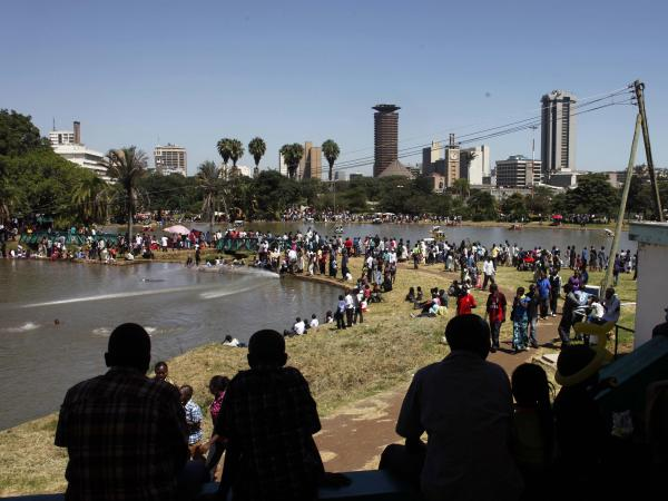 Crompton's novel begins in Nairobi's Uhuru Park.