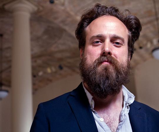 Singer-songwriter Sam Beam goes by the stage name Iron & Wine. (Jesse Costa/WBUR)