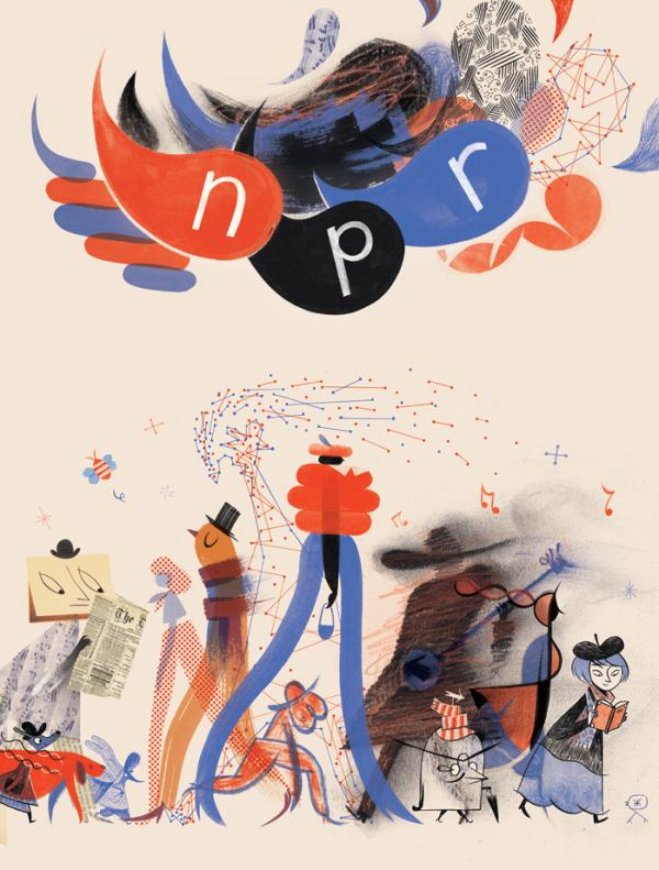 Illustrator and cartoonist Roman Muradov designed this art for the 2014 NPR Wall Calendar.