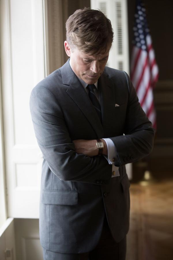 Rob Lowe as John F. Kennedy in the National Geographic Channel's film,<em> Killing Kennedy</em>.