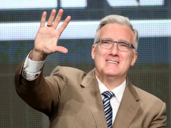 Keith Olbermann speaks onstage during the <em>Olbermann</em> panel at the ESPN portion of the 2013 Summer Television Critics Association press tour.