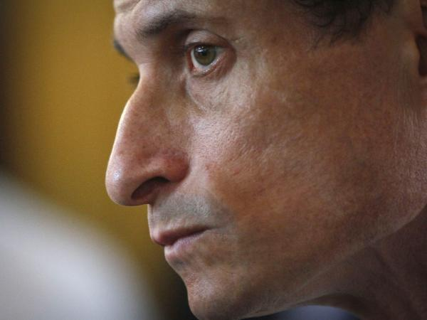 Anthony Weiner, New York mayoral candidate, during a news conference on Thursday in New York.